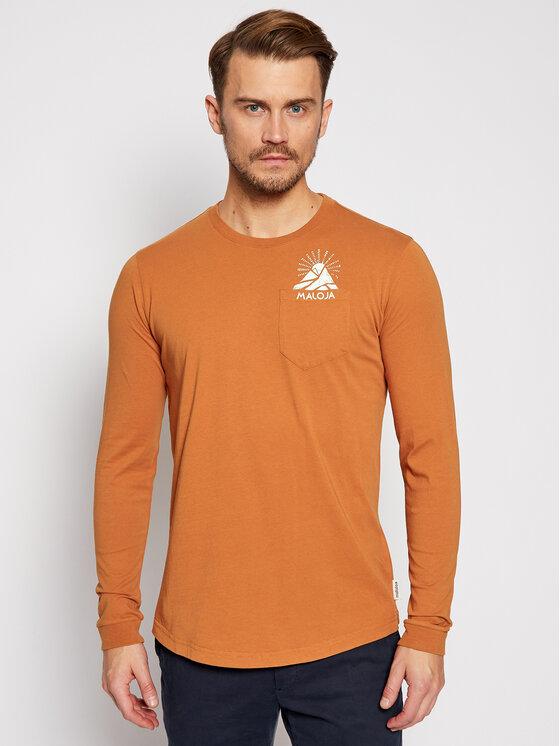Maloja Marškinėliai ilgomis rankovėmis LegshomM 30508-1-8416 Oranžinė Relaxed Fit