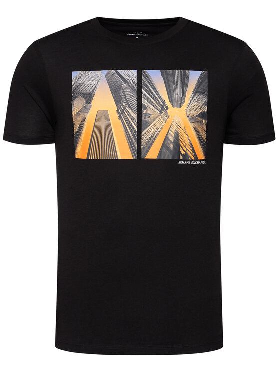 Armani Exchange Armani Exchange T-Shirt 6HZTLB ZJH4Z 1200 Černá Regular Fit