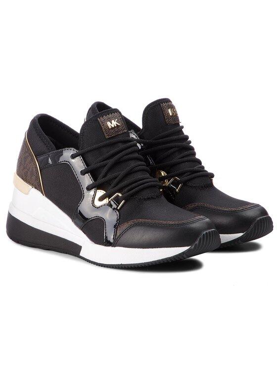 MICHAEL Michael Kors MICHAEL Michael Kors Sneakersy Liv Trainer 43F8SCFS3D Czarny