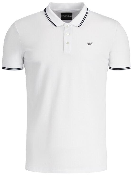 Emporio Armani Emporio Armani Polo marškinėliai 8N1F30 1JPTZ 0100 Balta Regular Fit