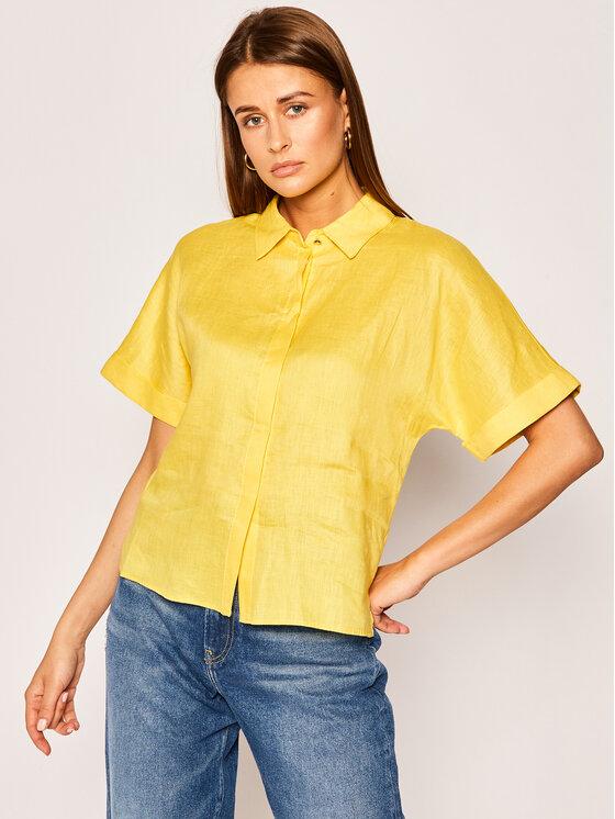 Pennyblack Marškiniai Elisa 21110320 Geltona Regular Fit