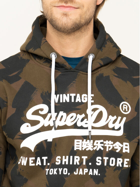 Superdry Superdry Džemperis Store M2000134B Žalia Regular Fit