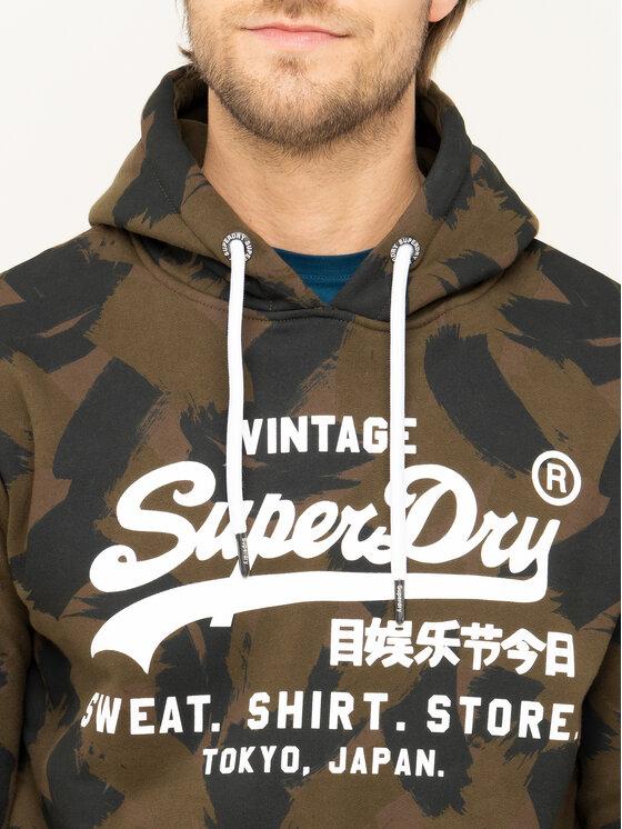 Superdry Superdry Mikina Store M2000134B Zelená Regular Fit
