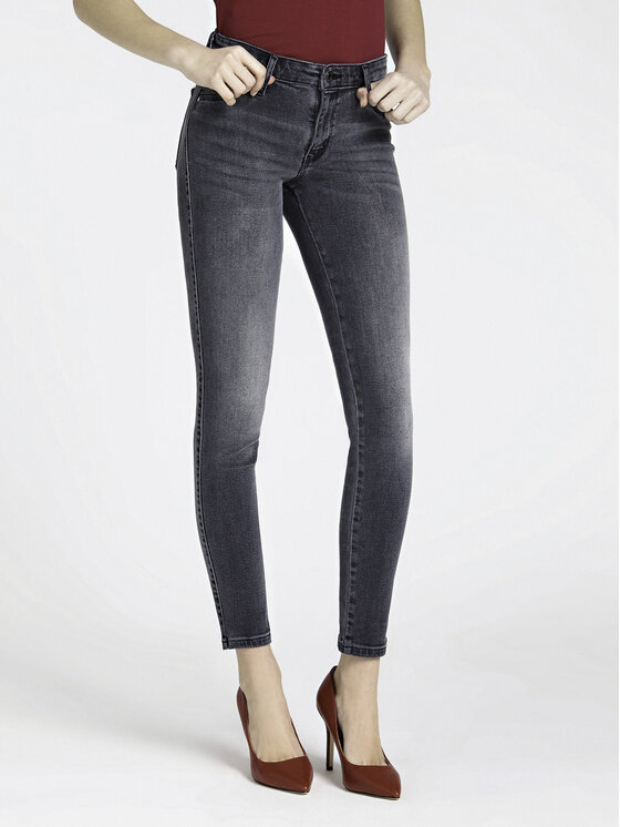 Guess Guess Jeansy Sexy Curve W94A73 D3U00 Szary Slim Fit