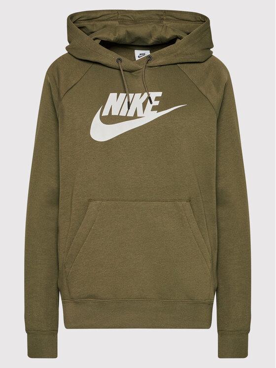 Nike Nike Суитшърт Sportswear Essential Зелен Regular Fit