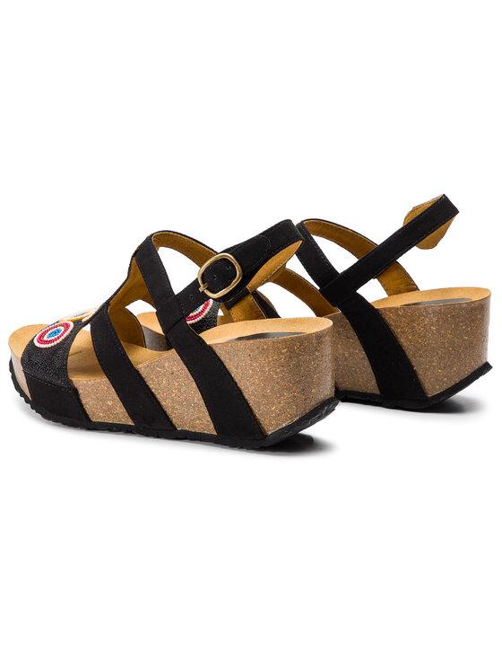 Desigual Desigual Sandále Shoes Cycle Beads 19SSHF02 Čierna