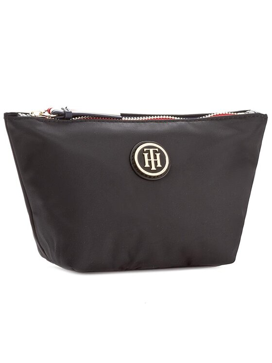 Tommy Hilfiger Tommy Hilfiger Pochette per cosmetici Poppy Make-Up Bag AW0AW04340 Nero