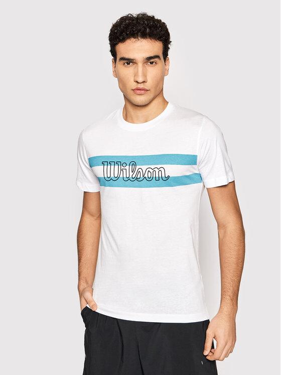 Wilson Marškinėliai M Chi Script Ctn Tee WRA790902 Balta Slim Fit