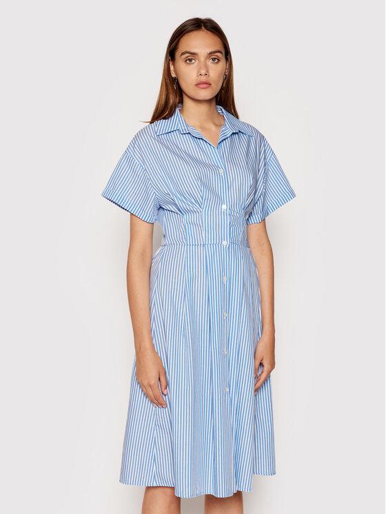 Rinascimento Marškinių tipo suknelė CFC0017854002 Mėlyna Regular Fit