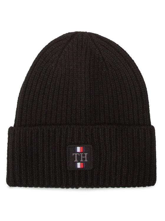 Tommy Hilfiger Tommy Hilfiger Шапка Th Plaque Beanie AM0AM06579 Черен