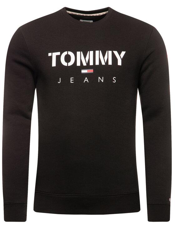 Tommy Jeans Tommy Jeans Суитшърт Tjm Novel Logo Crew DM0DM07614 Черен Regular Fit