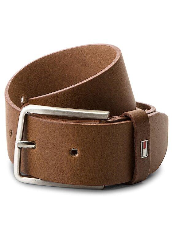 TOMMY HILFIGER TOMMY HILFIGER Férfi öv Smooth Leather Belt AM0AM03483 85 Barna