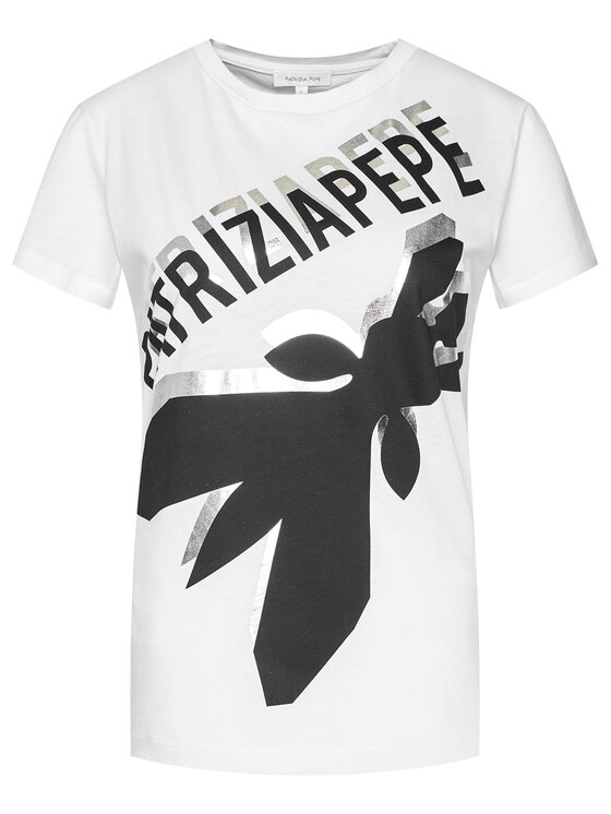 Patrizia Pepe Patrizia Pepe T-Shirt 8M1113/A4V5-W103 Bílá Regular Fit