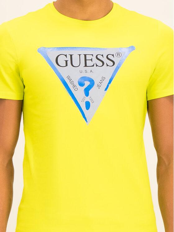 Guess Guess T-shirt M01I55 J1300 Verde Slim Fit