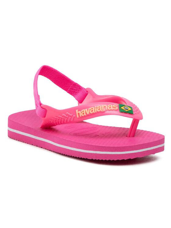 Havaianas Basutės N.B. Brasil Logo Cf 41405775784 Rožinė