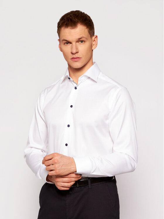 Eton Koszula 300000518 Biały Slim Fit