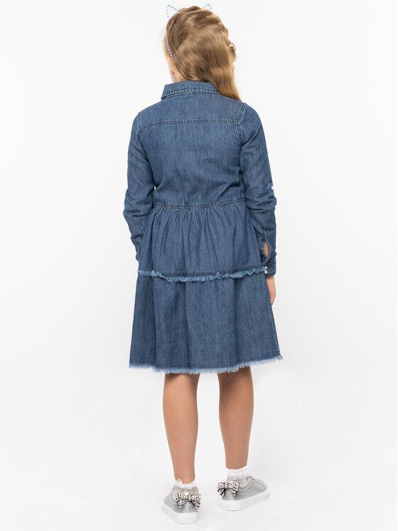 Guess Guess Kasdieninė suknelė J93K32 D3870 Tamsiai mėlyna Regular Fit