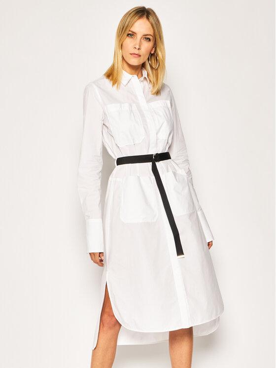 Diesel Sukienka koszulowa D-Tokyo 00SKBQ 0LAYI Biały Regular Fit
