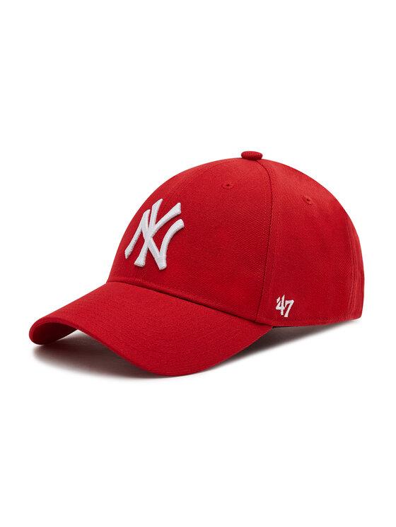 47 Brand Kepurė su snapeliu New York Yankees B-MVPSP17WBP-RD Raudona