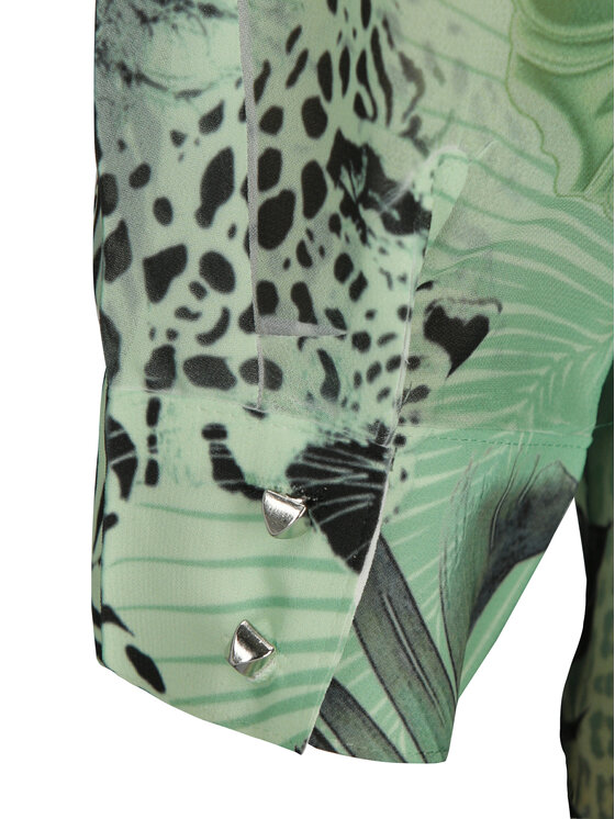 Guess Guess Риза Clouis W92H74 W70Q0 Зелен Regular Fit
