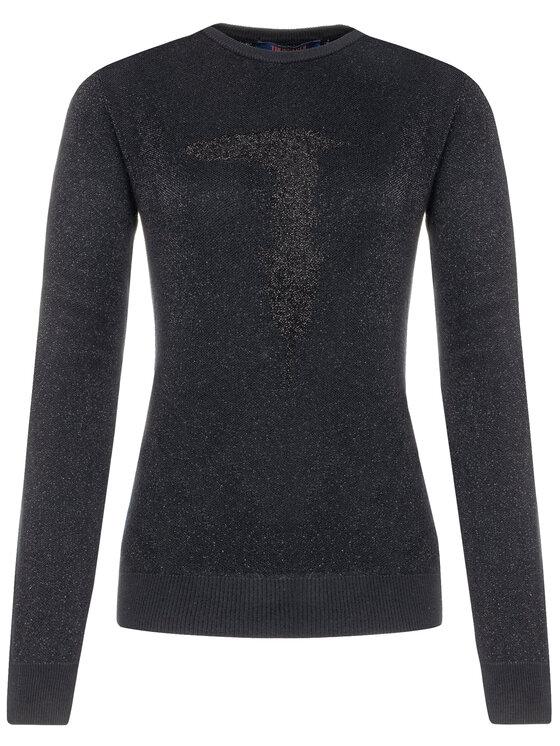 Trussardi Trussardi Sweter 56M00216 Czarny Regular Fit