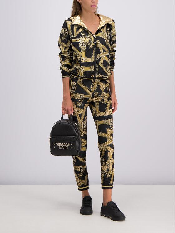 Versace Jeans Versace Jeans Demisezoninė striukė C0HTB935 Juoda Regular Fit