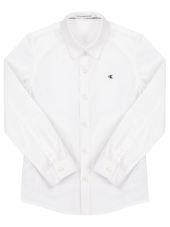 Calvin Klein Jeans Calvin Klein Jeans Koszula Essential Poplin Shirt IB0IB00366 Biały Regular Fit