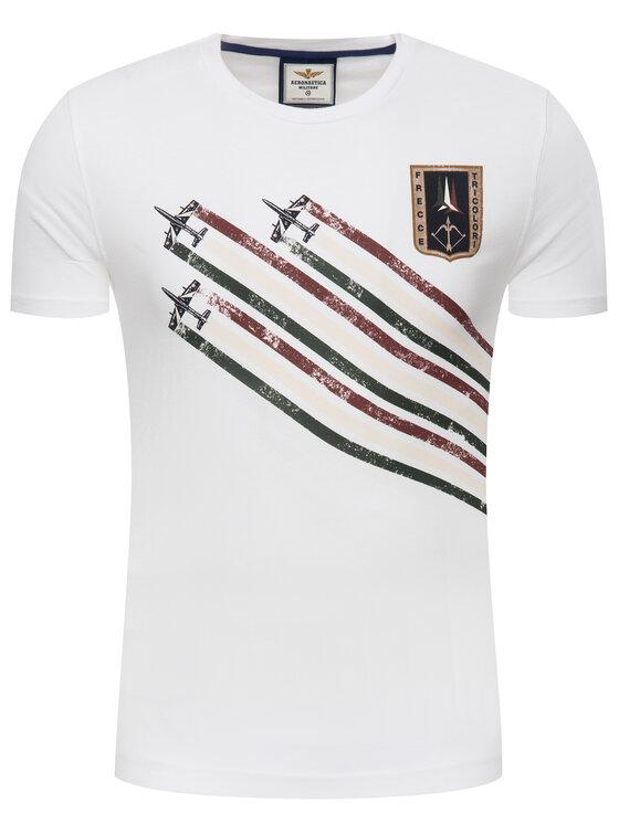 Aeronautica Militare Aeronautica Militare T-Shirt 191TS1627J372 Bílá Regular Fit