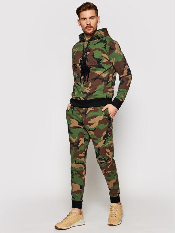 Polo Ralph Lauren Polo Ralph Lauren Spodnie dresowe Pnt 710828121001 Zielony Regular Fit