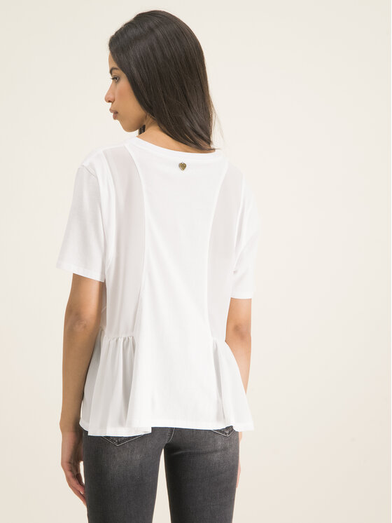TwinSet TwinSet T-Shirt 201TP2380 Biały Oversize