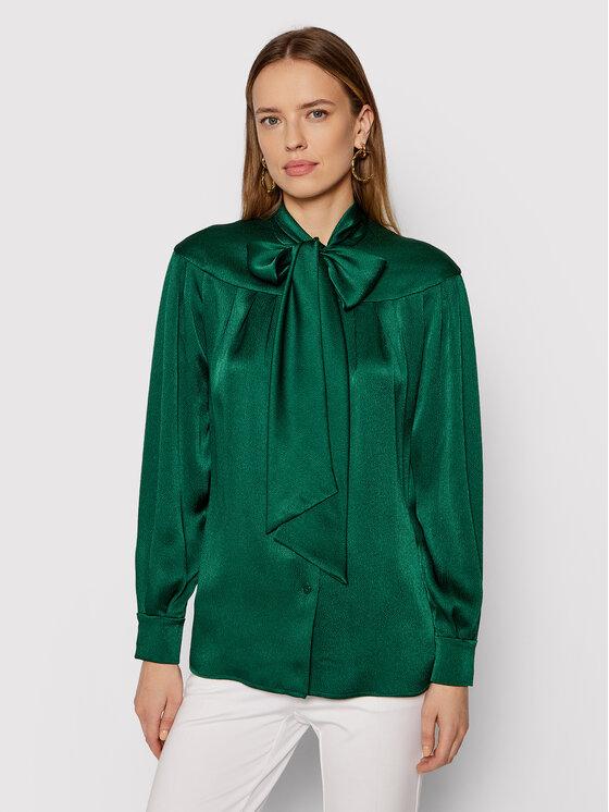 Luisa Spagnoli Marškiniai Lettere 538479 Žalia Regular Fit