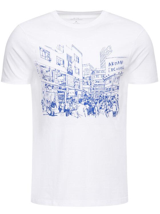 Armani Exchange Armani Exchange Marškinėliai 6GZTCH ZJH4Z 1100 Balta Regular Fit