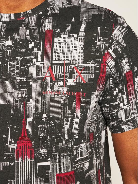 Armani Exchange Armani Exchange T-Shirt 6HZTGA ZJH4Z 8154 Černá Regular Fit