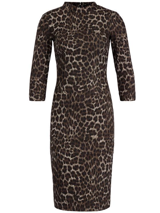 Guess Guess Koktejlové šaty W94K73 WC690 Hnědá Slim Fit