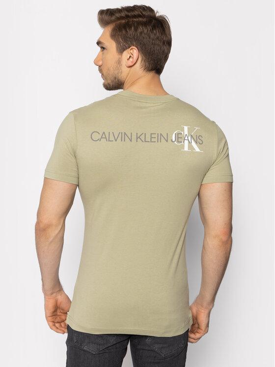Calvin Klein Jeans Calvin Klein Jeans T-Shirt Instit Back Pop Logo J30J315175 Grün Regular Fit