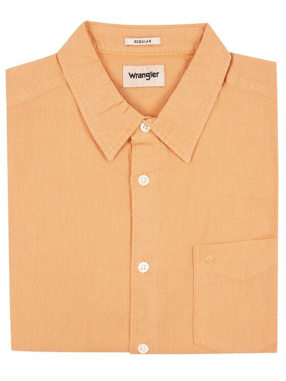 Wrangler Wrangler Πουκάμισο Ls 1 Pkt W5A9LOA04 Πορτοκαλί Regular Fit