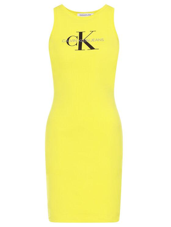 Calvin Klein Jeans Calvin Klein Jeans Robe d'été J20J213701 Jaune Slim Fit