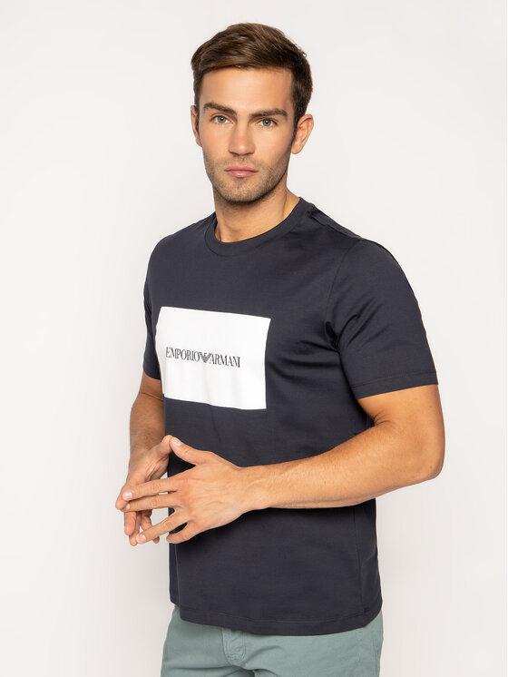 Emporio Armani Emporio Armani T-Shirt 3H1TD0 1J30Z 0924 Tmavomodrá Regular Fit