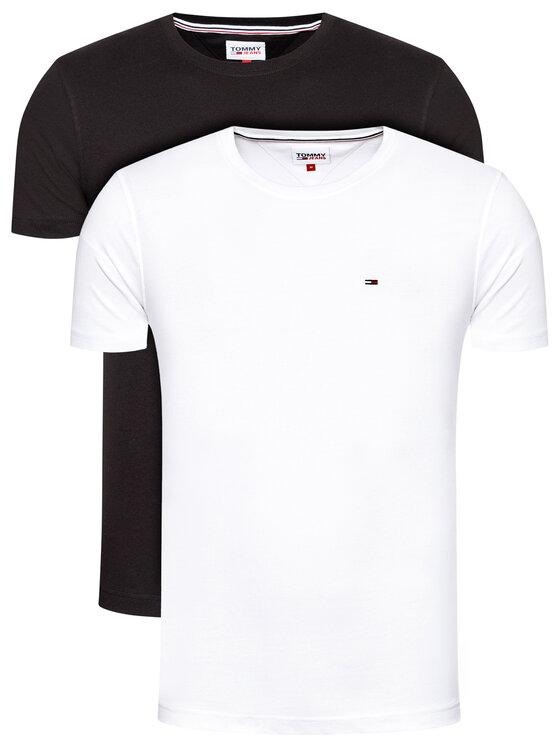 Tommy Jeans 2 marškinėlių komplektas Tjm 2 Pack Cneck Tee DM0DM10705 Spalvota Slim Fit