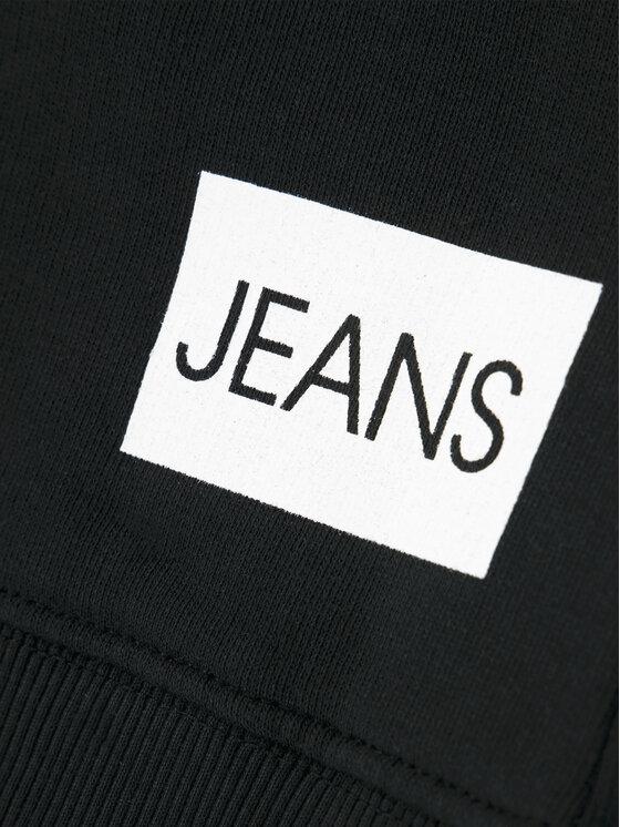 Calvin Klein Jeans Calvin Klein Jeans Bluza Logo Sweatshirt IU0IU00091 Czarny Regular Fit