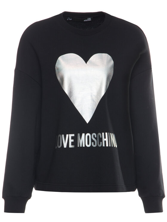 LOVE MOSCHINO LOVE MOSCHINO Pulóver W635504M 4068 Fekete Loose Fit