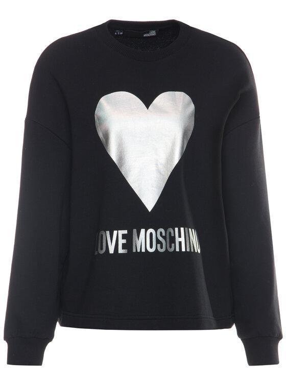 LOVE MOSCHINO LOVE MOSCHINO Sweatshirt W635504M 4068 Schwarz Loose Fit
