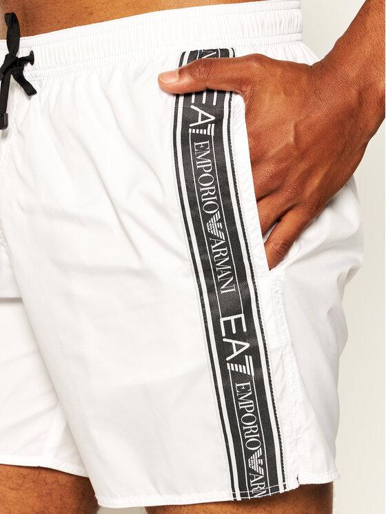 EA7 Emporio Armani EA7 Emporio Armani Plavecké šortky 902000 0P734 0001 Bílá Regular Fit