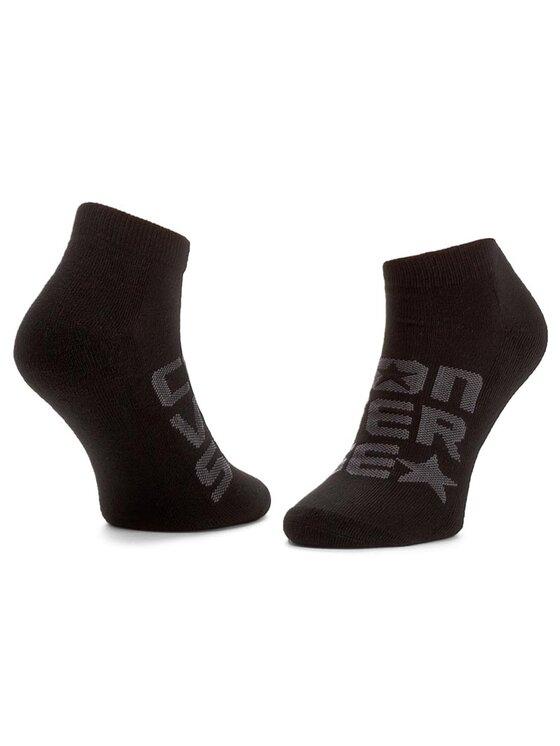 Converse Converse Sada 3 párů dámských nízkých ponožek E560B3010 Černá