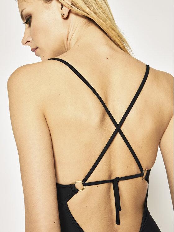 Calvin Klein Swimwear Calvin Klein Swimwear Бански костиум Structured Bandeau One Piece KW0KW00973 Черен