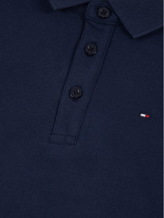 Tommy Hilfiger Tommy Hilfiger Тениска с яка и копчета Essential KB0KB05434 M Тъмносин Regular Fit