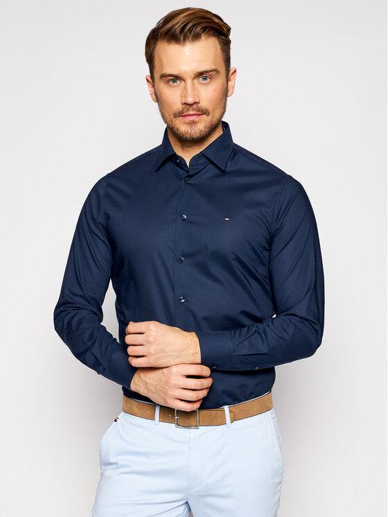 Tommy Hilfiger Tailored Marškiniai Plain MW0MW16490 Tamsiai mėlyna Regular Fit