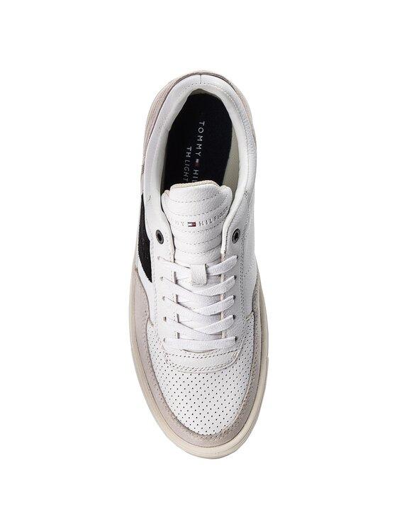 Tommy Hilfiger Tommy Hilfiger Sneakersy Lightweight Material Mix Low Cut FM0FM01706 Bílá