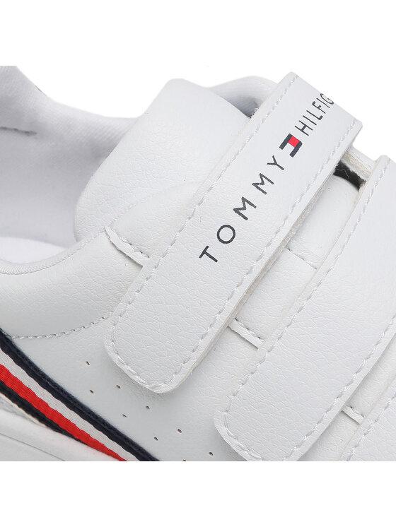 Tommy Hilfiger Tommy Hilfiger Sneakersy Low Cut Velcro Sneaker T3B4-31084-0621 M Biały