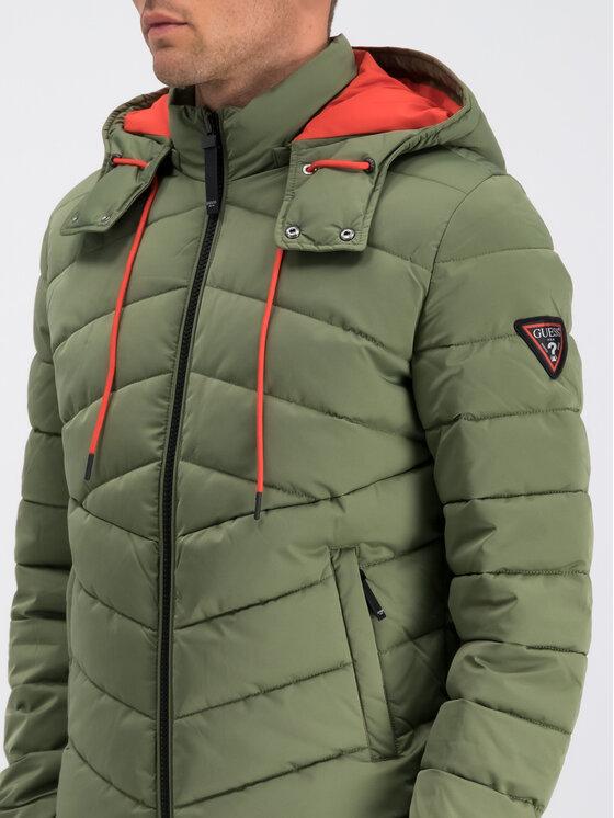 Guess Guess Geacă de iarnă M94L50 WC2A0 Verde Regular Fit
